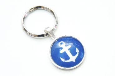 Just Trisha - Schlüsselanhänger maritim blauer Anker - 7,30€