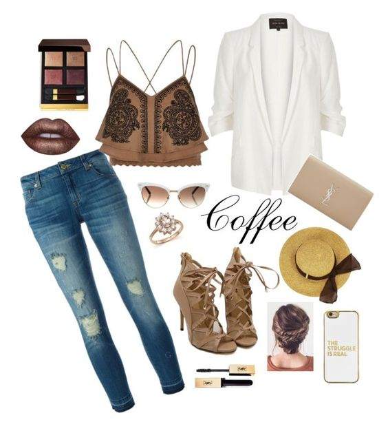 """""""Coffee Tint"""" by isabel-su on Polyvore featuring MICHAEL Michael Kors, River Island, Yves Saint Laurent, Gucci, BaubleBar, Bloomingdale's, Lime Crime and Tom Ford"""