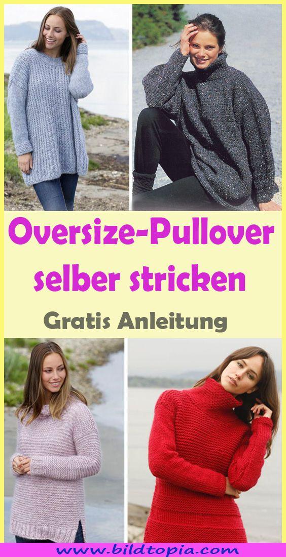 oversize pullover damen stricken