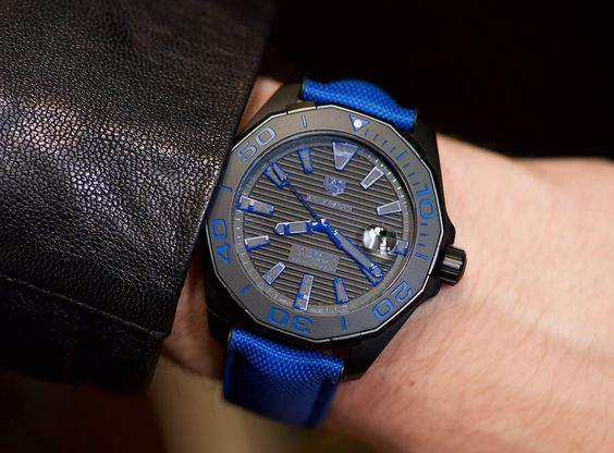 New TAG Heuer Aquaracer Black Titanium Watches For 2016 Hands-On | aBlogtoWatch