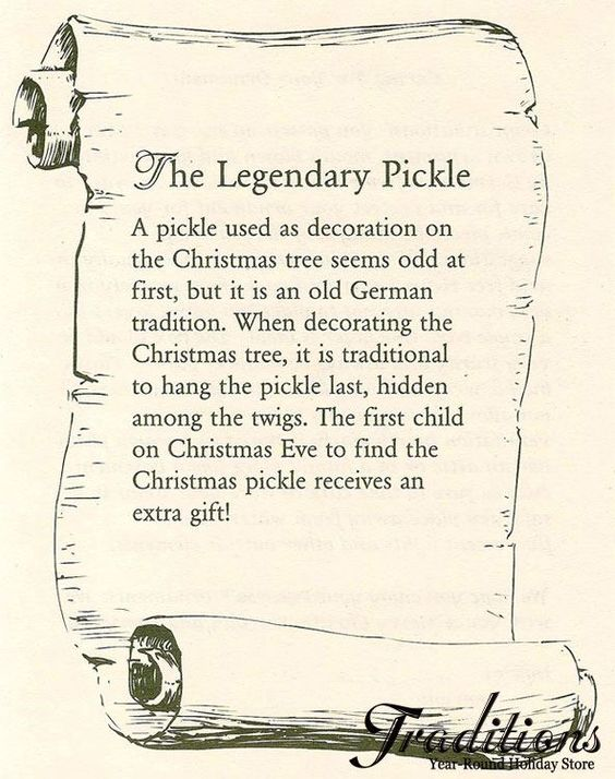pickle in the christmas tree story
