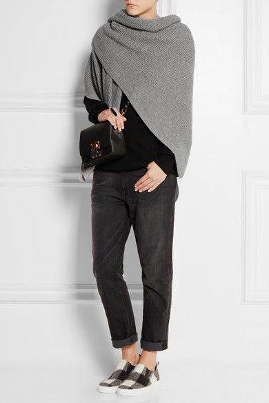 Gray cashmere 100% cashmere Dry clean Designer color: Husky
