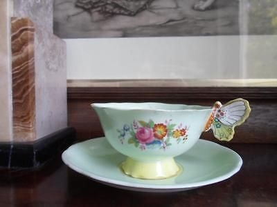 Paragon Butterfly Handled Footed Cup & Saucer c.1950's