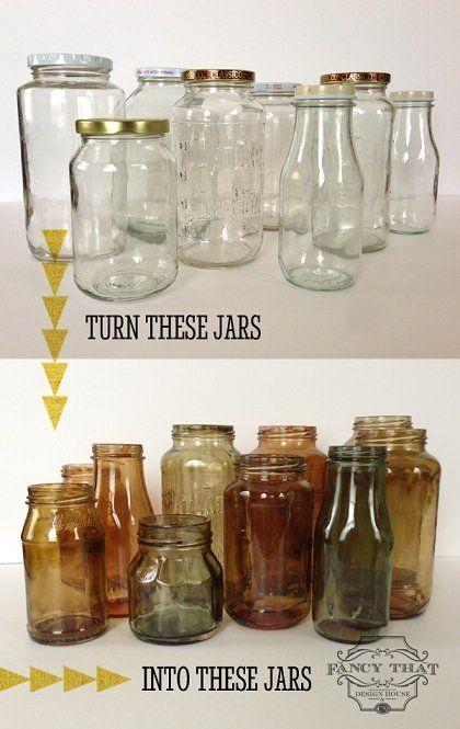 Geef+lege+glazen+potjes+mooie+rustieke+en+antieke+tinten+met+deze+handleiding!