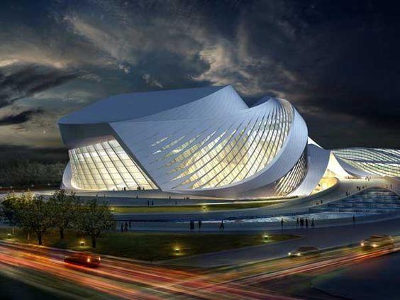 New Century City Art Centre, Chengdu, China by Zaha Hadid... #ZahaHadid