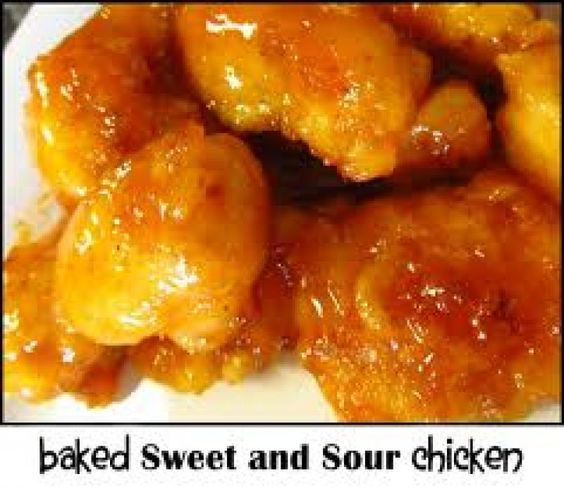 Baked Sweet and Sour Chicken Recipe from The Chinese Kitchen