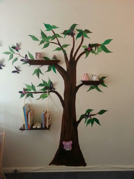 Tree my brother painted for the nursery