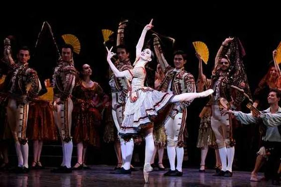 "Julia Cinquemani, center, stars in the Los Angeles Ballet premiere of ""Don Quixote."" Based on Miguel de Cervantes' iconic Spanish novel, the show will be staged at the Alex Theatre on Saturday and UCLA's Royce Hall on March 26. (Photo by Reed Hutchinson/Courtesy Los Angeles Ballet)"