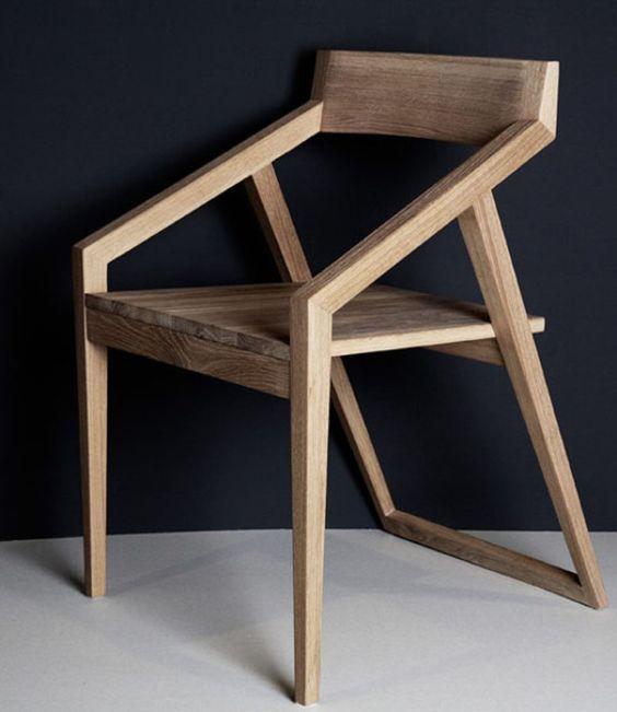 Modern Minimalist Japanese chair. wood. furniture. design. home.
