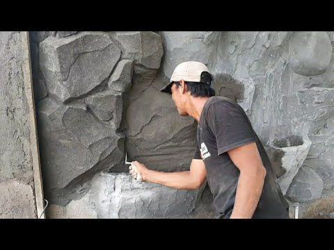 Cara Membuat Batu Relief Tebing Part3 Youtube Stone Decor 3d Wallpaper For Walls Concrete Casting