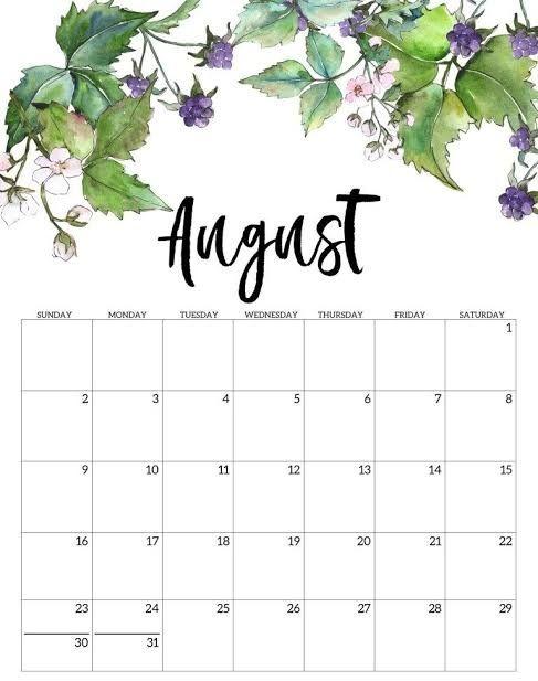 Cute August 2020 Calendar Smart Trip Planner Free Printable Calendar Template In 2020 Monthly Calendar Printable Print Calendar August Calendar