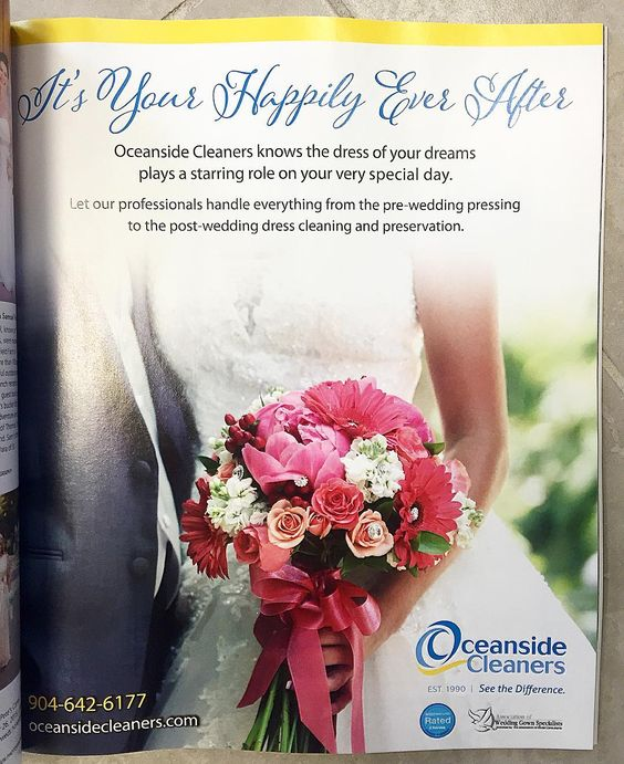 Go check out our ad in  @jaxmagbride! #weddingwednesday #jacksonvillemagazine #bride #fallwinteredition #oceansidecleaners #ido #weddinggownspecialists