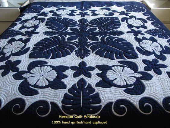 Hawaiian quilt-Sea Turtles-Monstera-Hibiscus-Plumeria