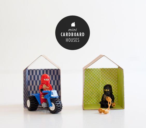 Diy mini cardboard house