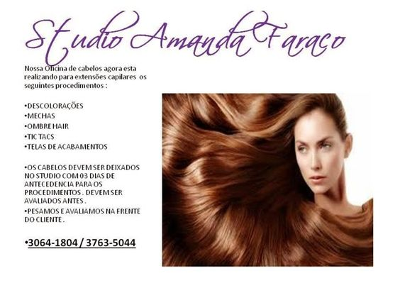 Studio Amanda Faraco: Procedimentos realizados Tb no Studio