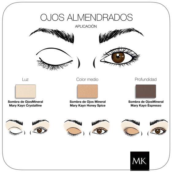 Makeup Ojos almendrados #MaryKay   www.marykay.es/mariaroda