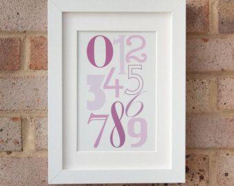 Impresión púrpura y rosa arte Giclee en lona por JuliaBarsArt