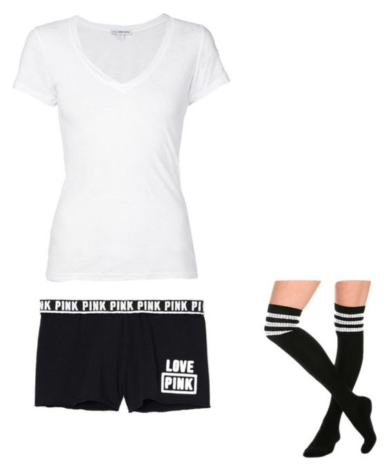 """"" by melodyleighmitchell on Polyvore featuring Victoria's Secret and James Perse"