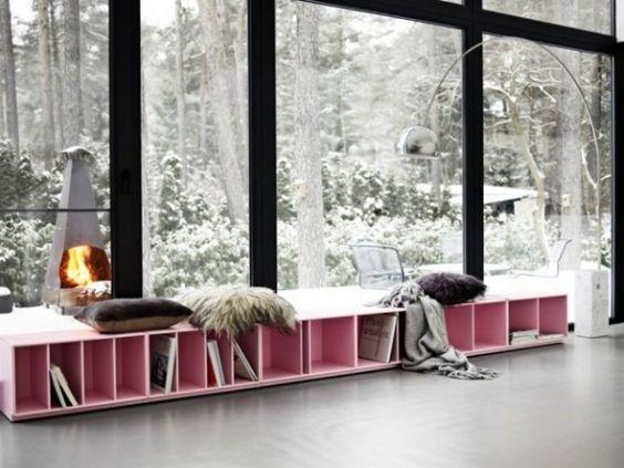 wohnzimmer wohnideen von montana regal sitzbank fenster zartrosa neue wohnung pinterest. Black Bedroom Furniture Sets. Home Design Ideas