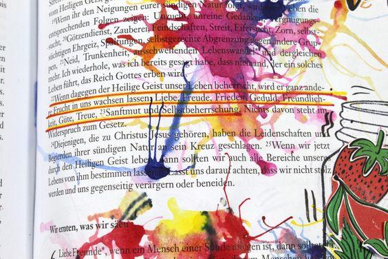 Fruechtedesign Ideen | Bible Art Journaling