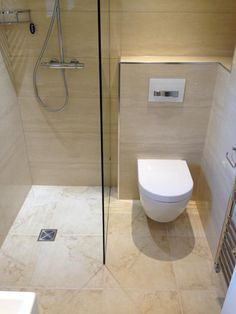 Like This But Reversed Toilet On The Left As You Look At It Small Bathroom Layout Tiny Wet Room Small Wet Room