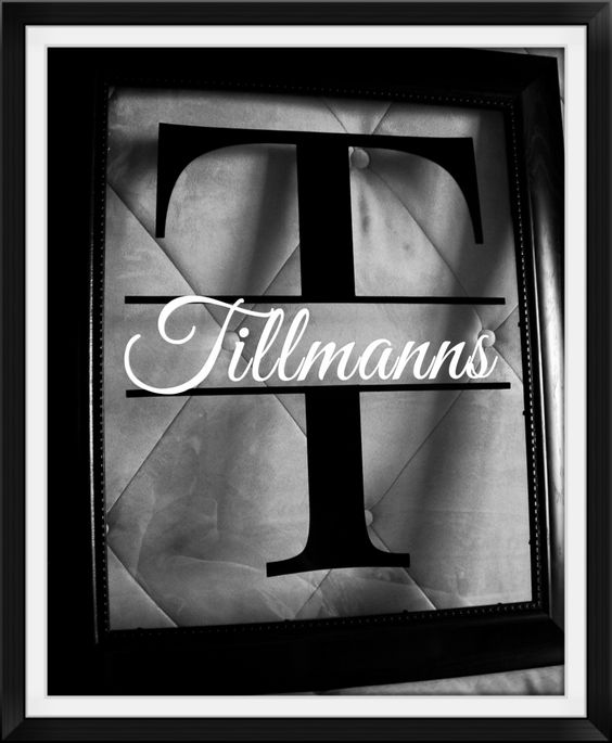 Custom handcrafted Family Name Frames - made just for you.  Visit my website for pricing and details.