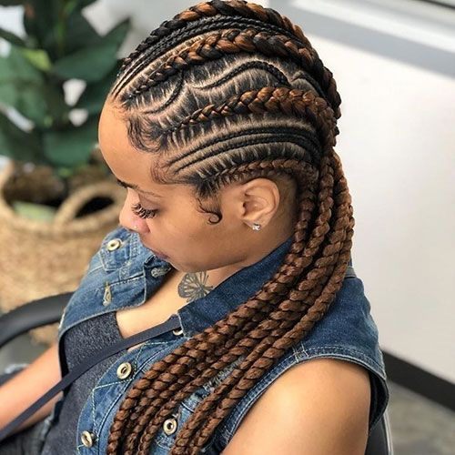 50 Cool Cornrow Braid Hairstyles To Get In 2020 Hair Styles Braided Hairstyles African Hair Braiding Styles