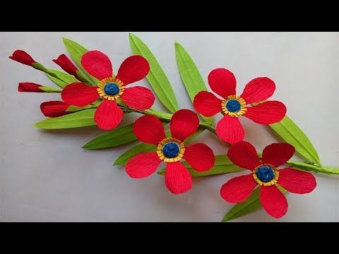 How To Make Beautiful Paper Flowers Youtube Paper Flowers Diy
