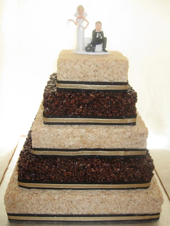 krispie treats wedding and rice krispie treats on pinterest. Black Bedroom Furniture Sets. Home Design Ideas