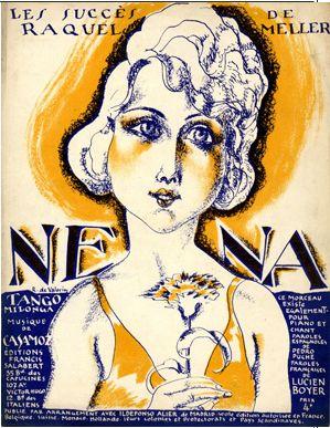 "Illustrated Sheet Music by Roger De Valerio, 1923,""Nena""."