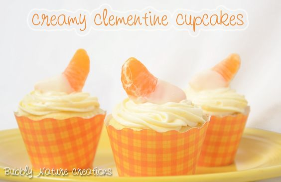 Creamy Clementine Cupcakes