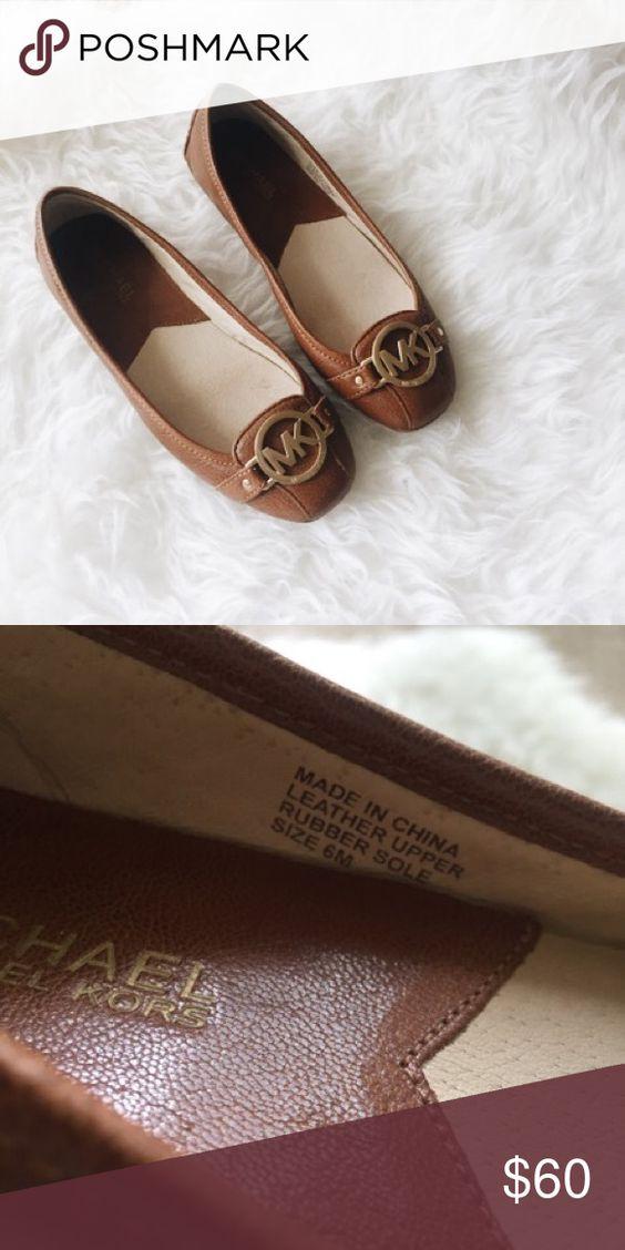 Michael Kors flats Brown MK flats MICHAEL Michael Kors Shoes Flats & Loafers