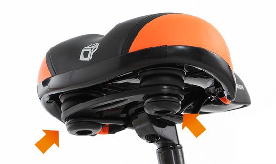 DOPPELGANGER®[ドッペルギャンガー]自転車ブランド エアフィットサドル DSC170-GY/OR