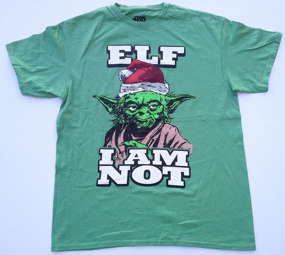 New Star Wars Jedi Elf Christmas T-Shirt movies yoda funny darth vader santa #StarWars #GraphicTee