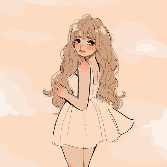 Blonde N Cute Girl Icon In 2020 Cute Art Styles Cartoon Girl Drawing Cartoon Art Styles