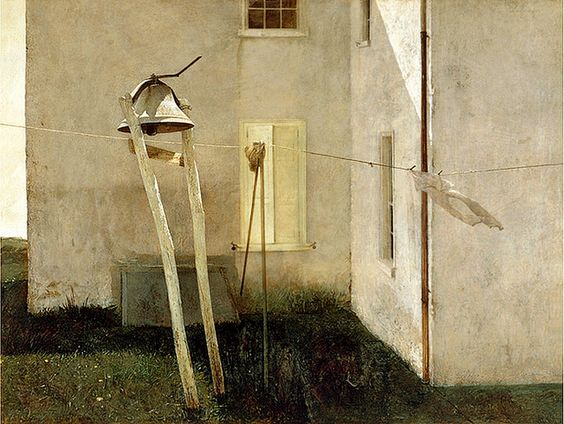 Andrew Wyeth 'Slight Breeze' 1968, Tempera paint by Plum leaves ...