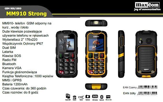 Szanowni klienci, Miło nam poinformować, że wprowadziliśmy do oferty wodoodporne telefony dual sim z certyfikatem IP67 - MM910 STRONG. Zachęcamy do zapoznania się z nowymi produktami oraz do zakupu w https://eokazje.eu/.