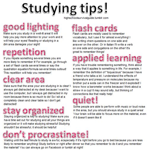 Image result for studying tips