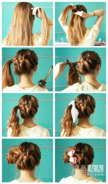 Tremendous Hairstyles Haircuts Updo And Hairstyles For Medium Hair On Pinterest Hairstyles For Women Draintrainus