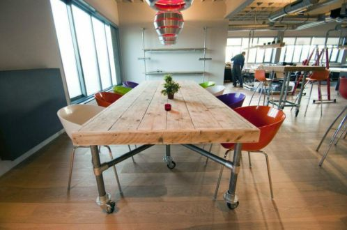 Modern Conference Table Built With Kee Klamp Pipe Tables Pinterest - Rolling conference table