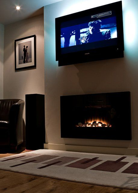 Electric Fireplace Apartment Therapy Pinterest Wall