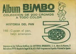 cromos albumes bimbo: