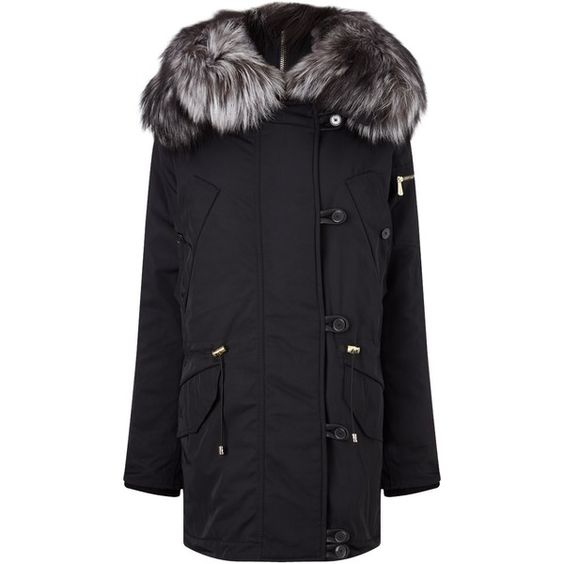 Coats Grey and Fur on Pinterest