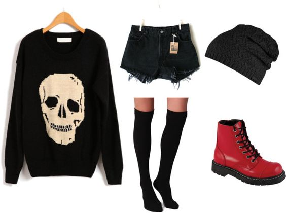 """Punk Rock - Fall Outfit"" by sammrawr on Polyvore ..."