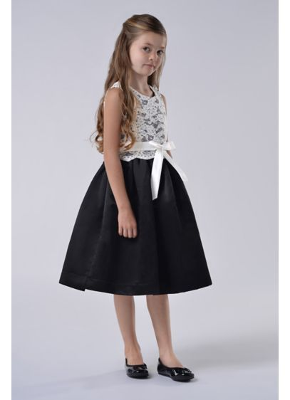 Lace and Satin Flower Girl Dress With Sash 105UA | Girls