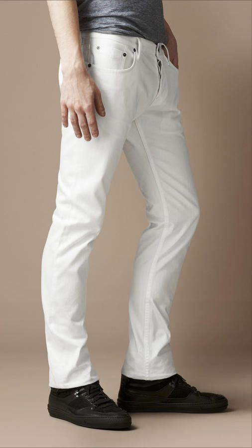 Steadman White Slim Fit Jeans | Shops White jeans and Mens white