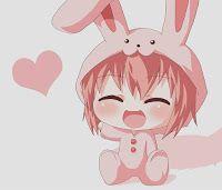 #1girl, #AkazaAkari, #AnimalCostume, #AnimalEars, #BunnyCostume, #BunnyEars, #Chibi, #EyesClosed, #Kers, #OpenMouth, #Pajamas, #PinkHair, #ShortHair, #Smile, #Solo, #YuruYuri, #