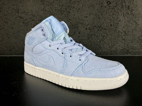 Authentic Air Jordan 1 Re HI OG Laser BG ICE Blue Basketball Shoe