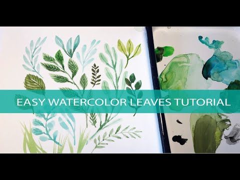 Easy Watercolor Painting Leaves Tutorial Art How To Beginner