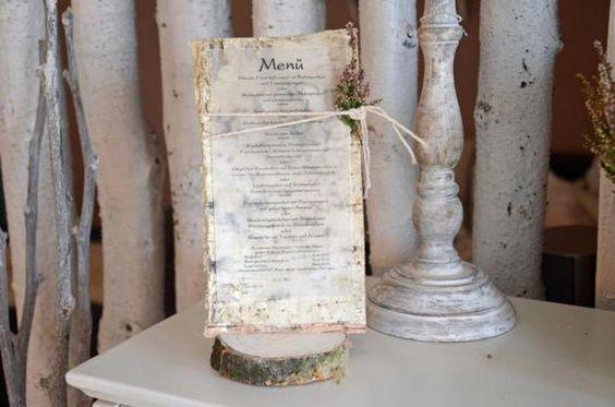 Hochzeitsdeko - Menükarte Menü Aufsteller Geburtstag Tischdeko - ein Designerstück von majalino bei DaWanda